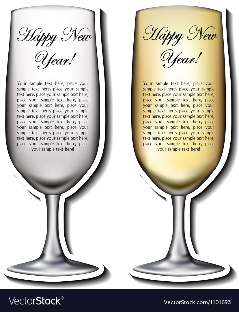 Champagne glass shaped card