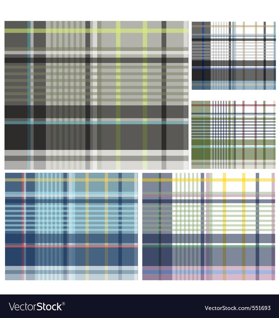 Check pattern design vector image