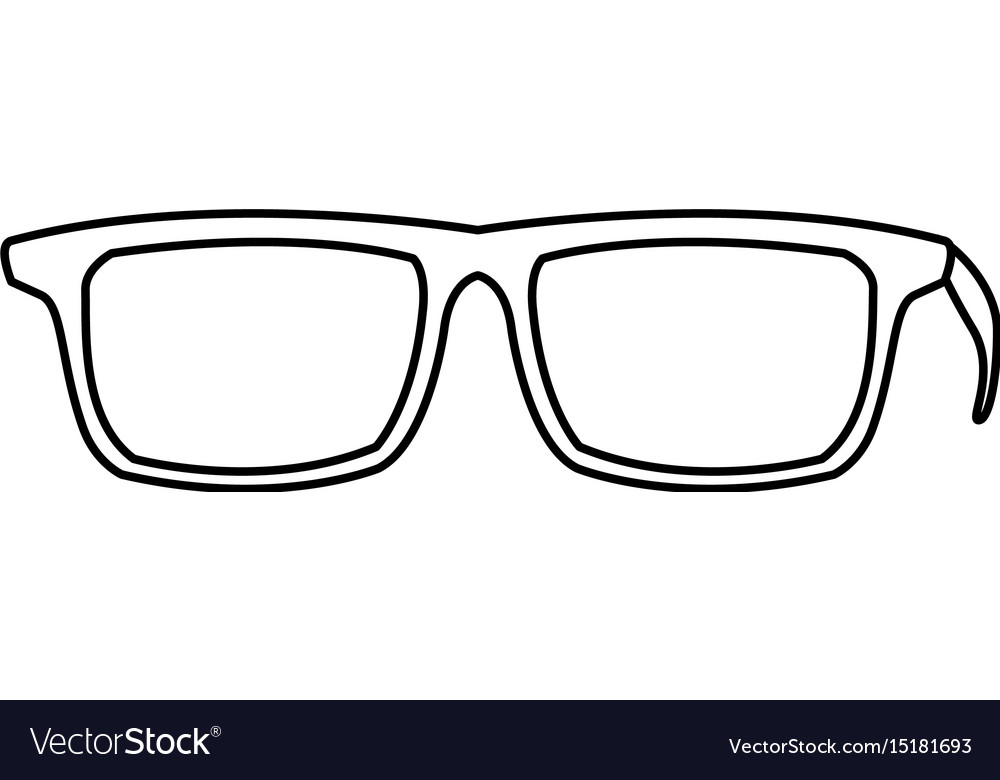 eye glasses hipster style frames icon royalty free vector