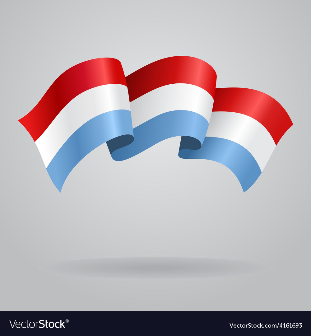 Luxembourg waving Flag