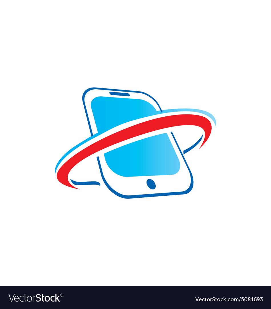 Mobile phone abstract technology logo
