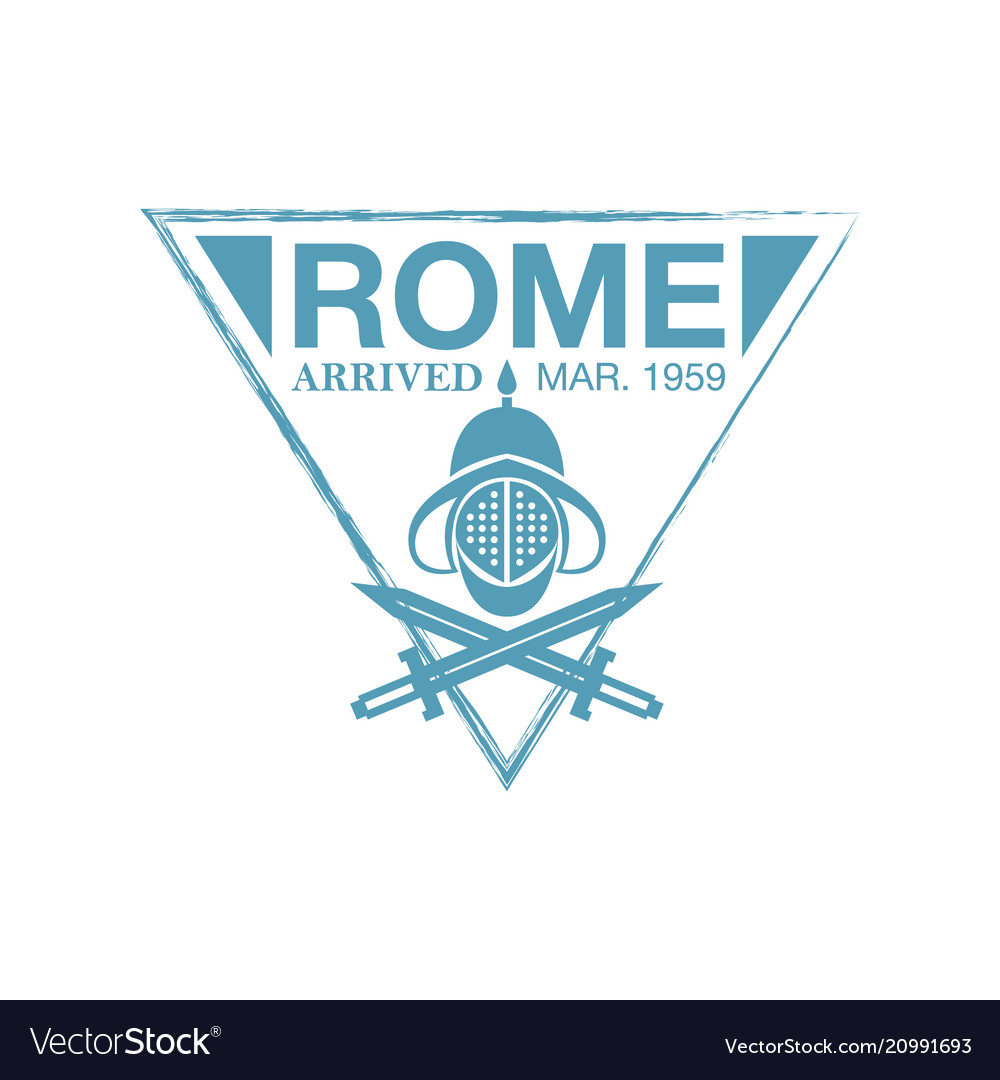 Rome arrival ink stamp on passport