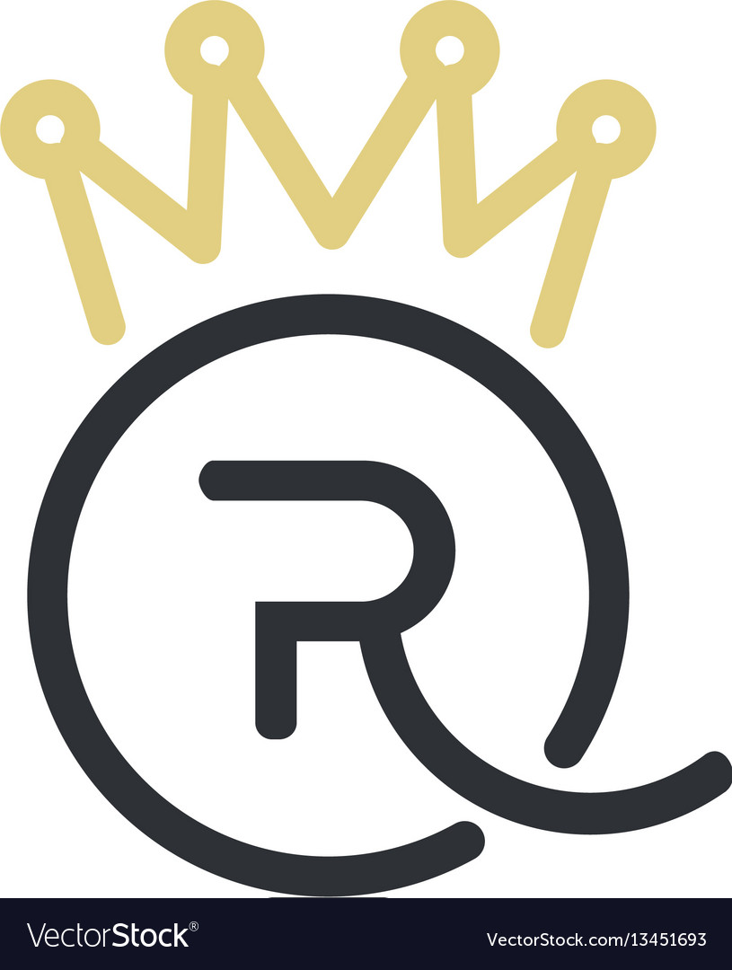 Royal queen letters and crown logo