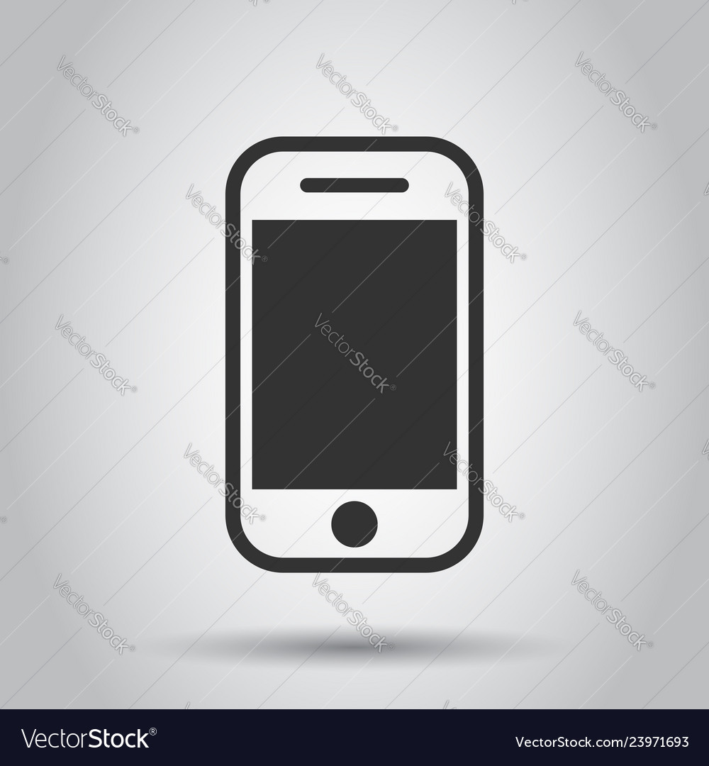 Smartphone icon in flat style phone handset on