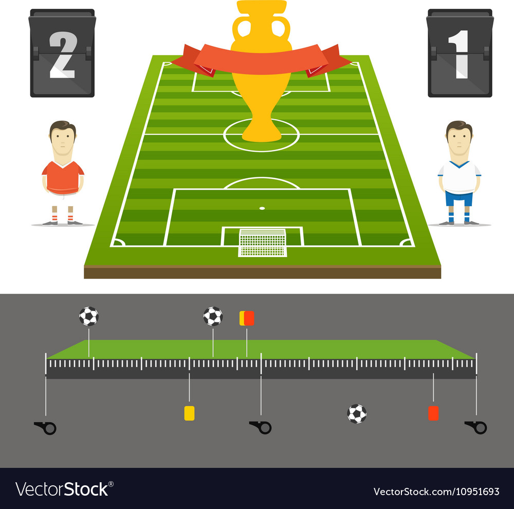 Soccer match statistics template Flat design