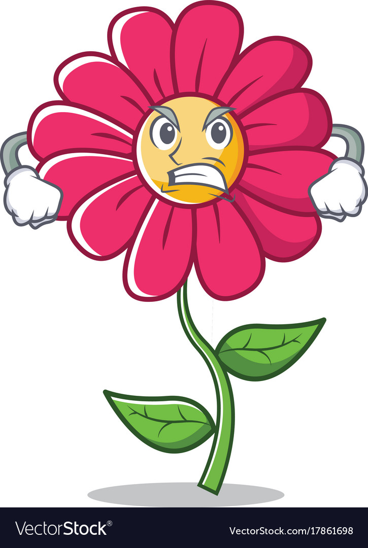 Angry pink flower character cartoon royalty free vector angry pink flower character cartoon vector image mightylinksfo