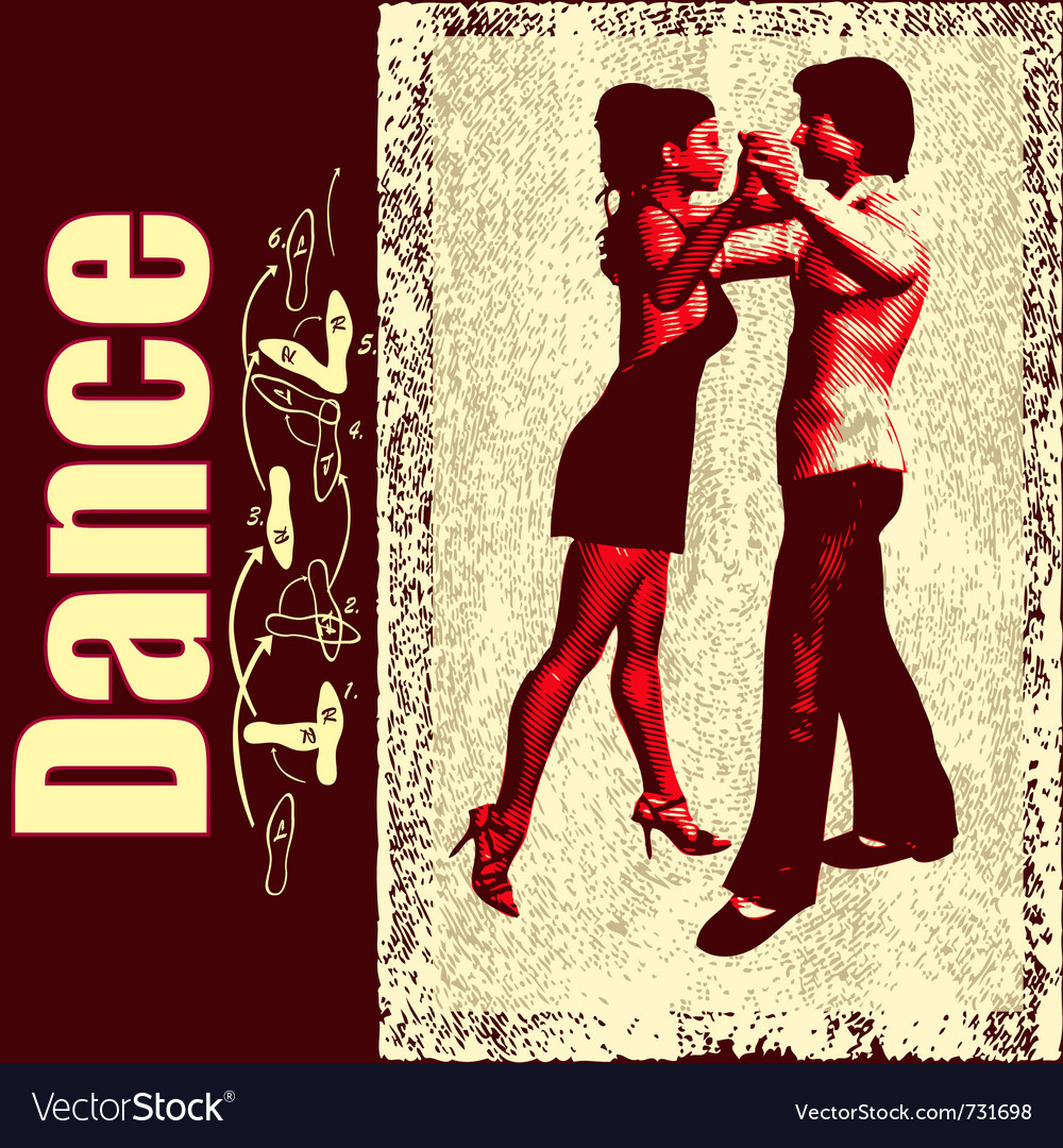 Ballroom dance background vector image