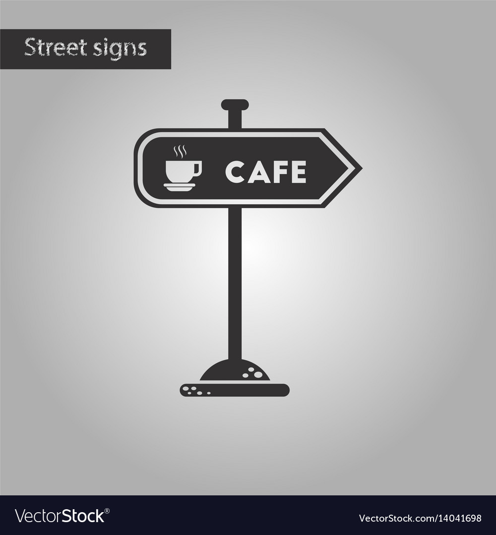 Black and white style icon cafe sign vector image