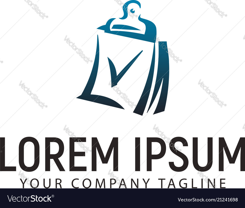 Chec mark document logo design concept template