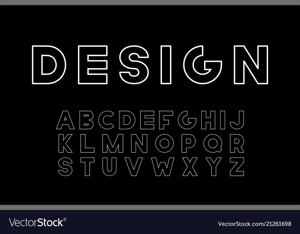 Designer minimalistic font trendy english