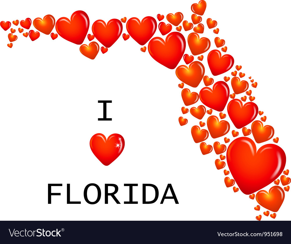 Florida State with hearts