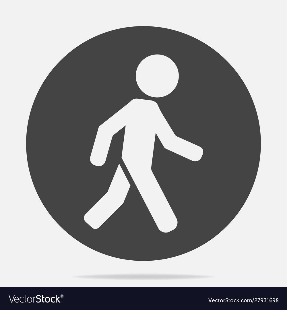 icon a walking pedestrian a walking man on vector image vectorstock
