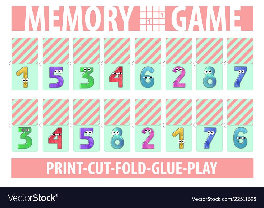 picture regarding Printable Memory Cards identify Memory card recreation figures printable a4 horizontal