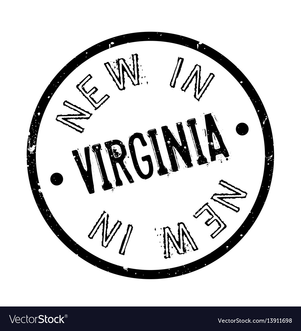 New in virginia rubber stamp vector image