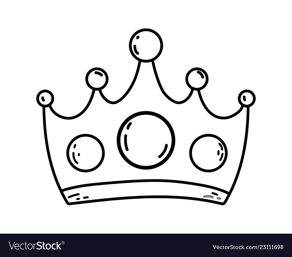 Queen Crown Cartoon Royalty Free Vector Image Vectorstock Here you can explore hq queen crown transparent illustrations, icons and clipart with filter setting like size, type, color etc. vectorstock