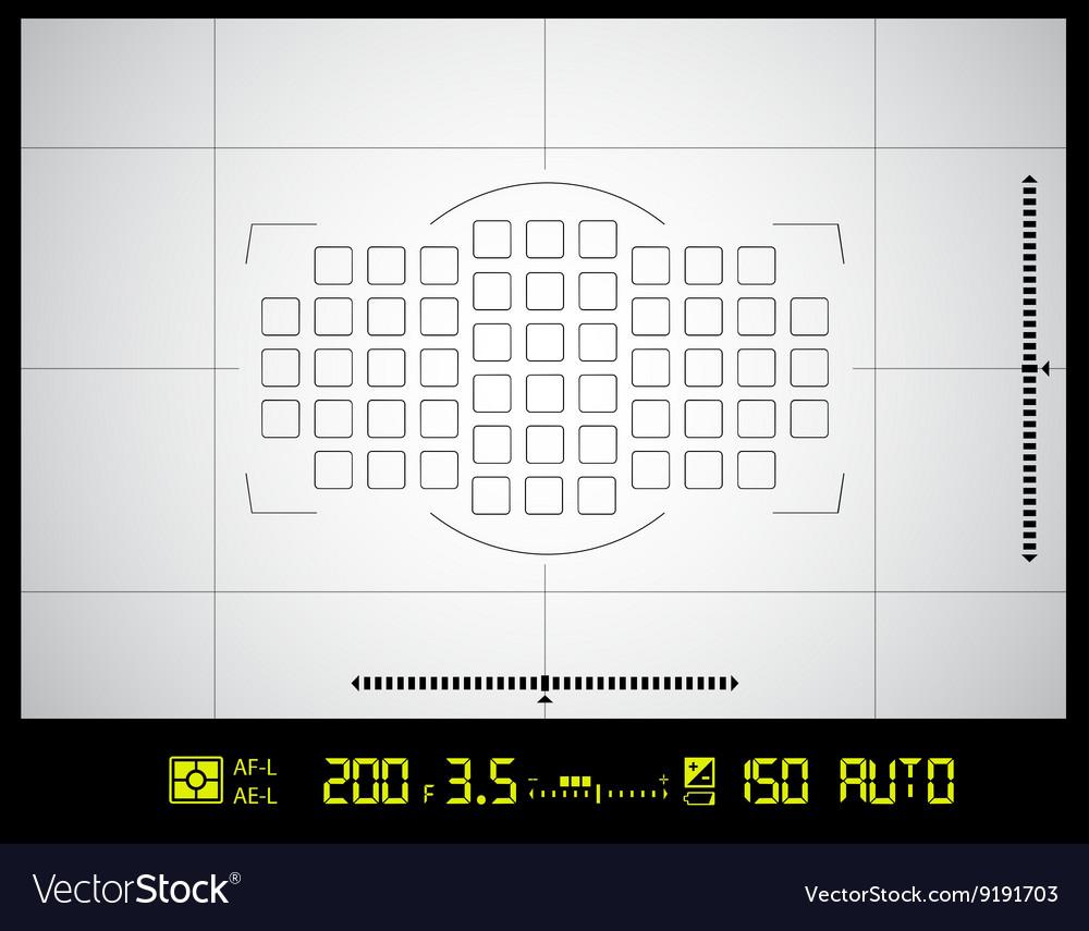 Camera viewfinder screen