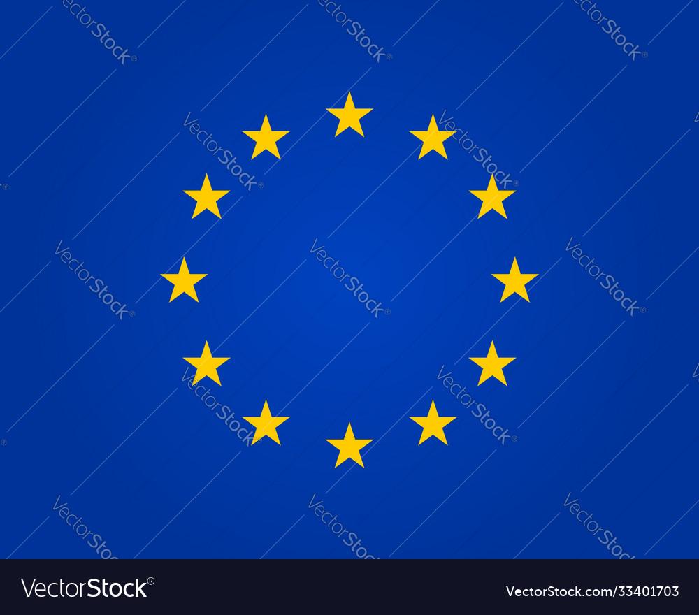 Flag eu european union symbol europe stars