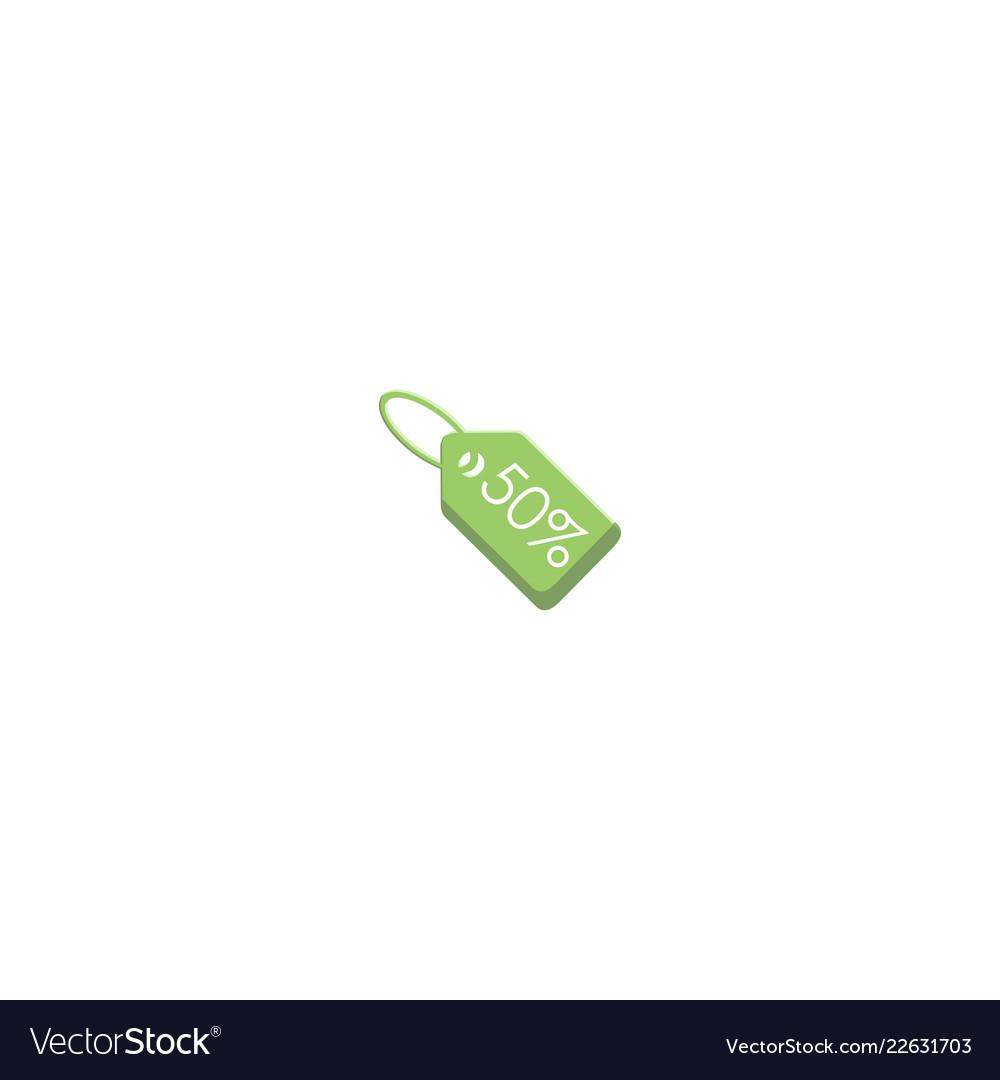 Green Coupon Logo Design Symbol Dan Icon Template Vector Image