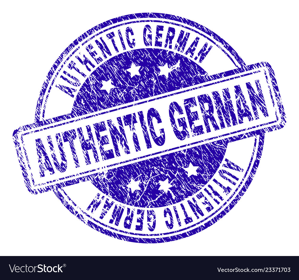 Scratched Textured Authentic German Stamp Seal Vector Image