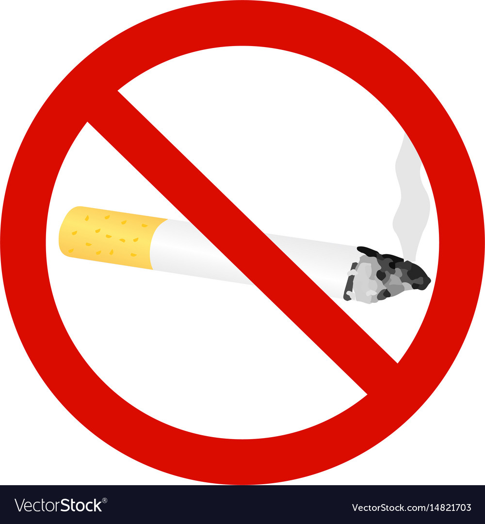 The sign no smoking cigarette