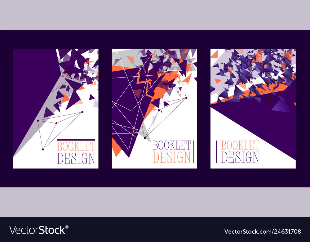 Abstract booklet design poster banner card