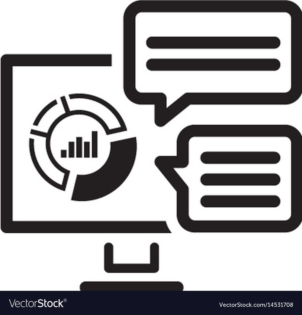 Analytics system icon flat design vector image