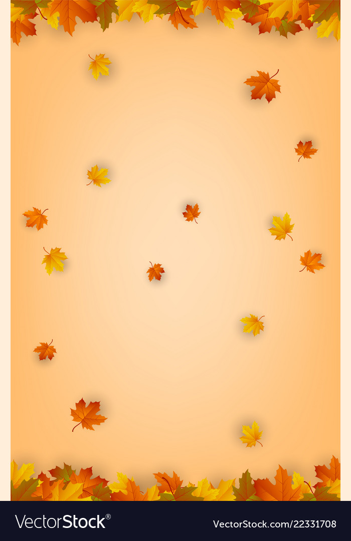 Autumn background with falling leaves red yellow