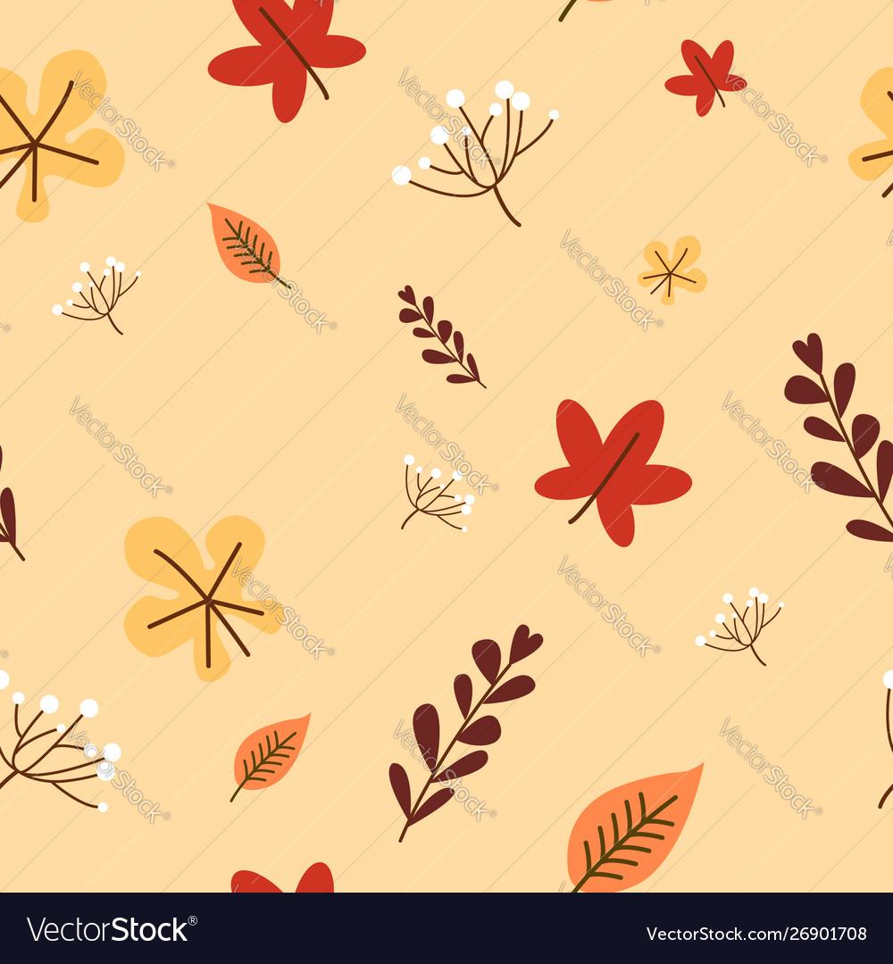 Autumn fall cute dandelion flower and falling