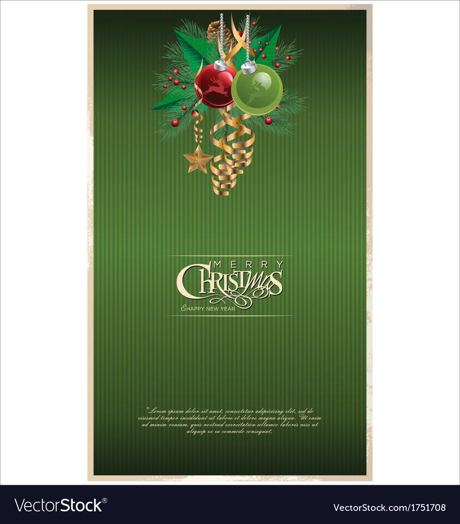 Christmas green banner