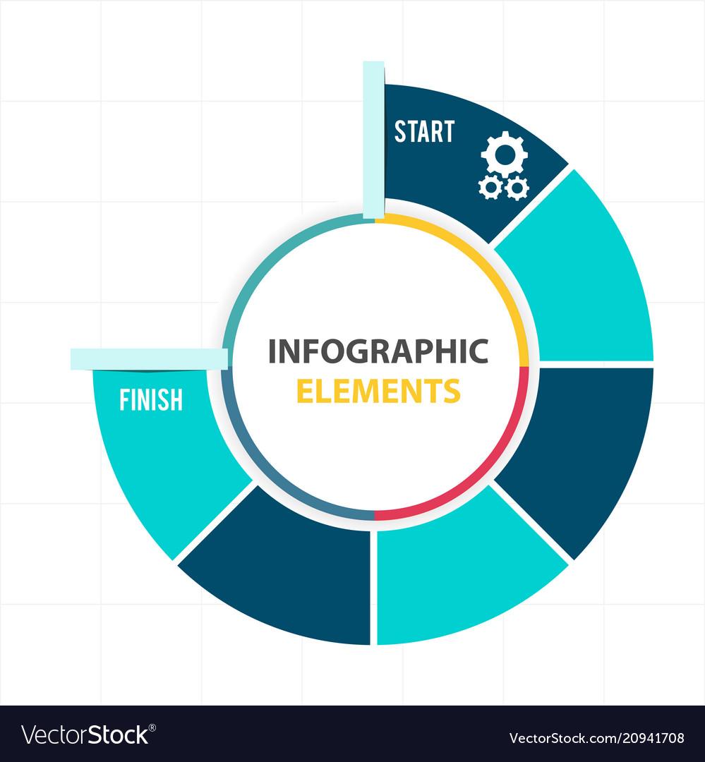 Circle infographic elements pie chart template vec