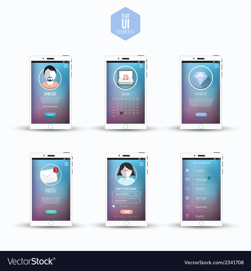 Flat ui kits for smartphone