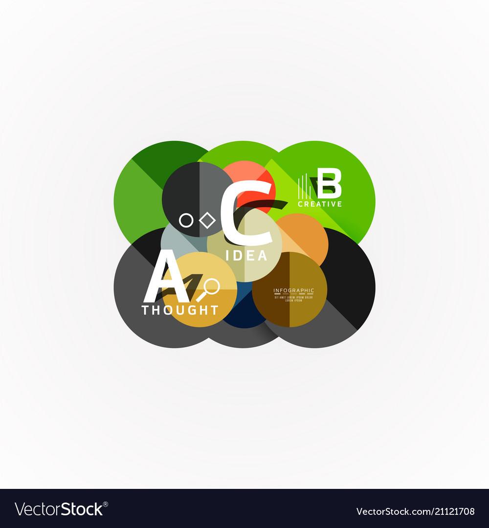 Geometric design abstract option infographics
