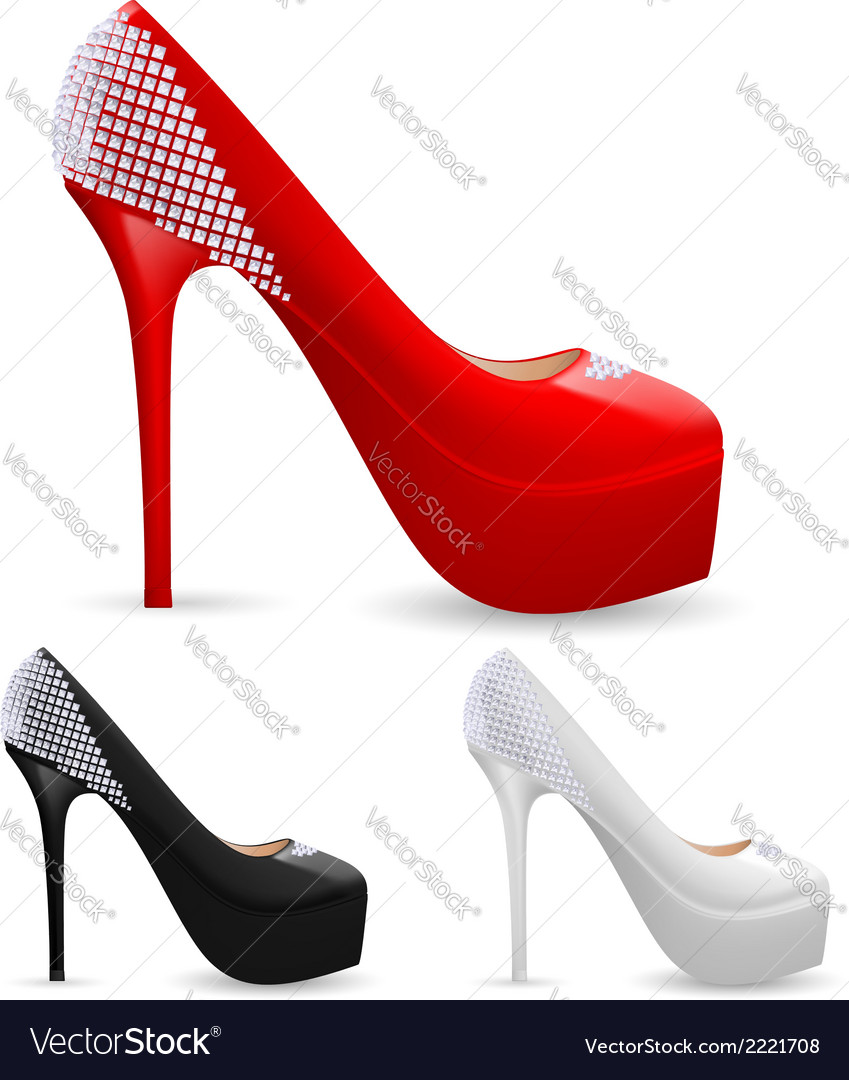Ladies shoes Royalty Free Vector Image - VectorStock