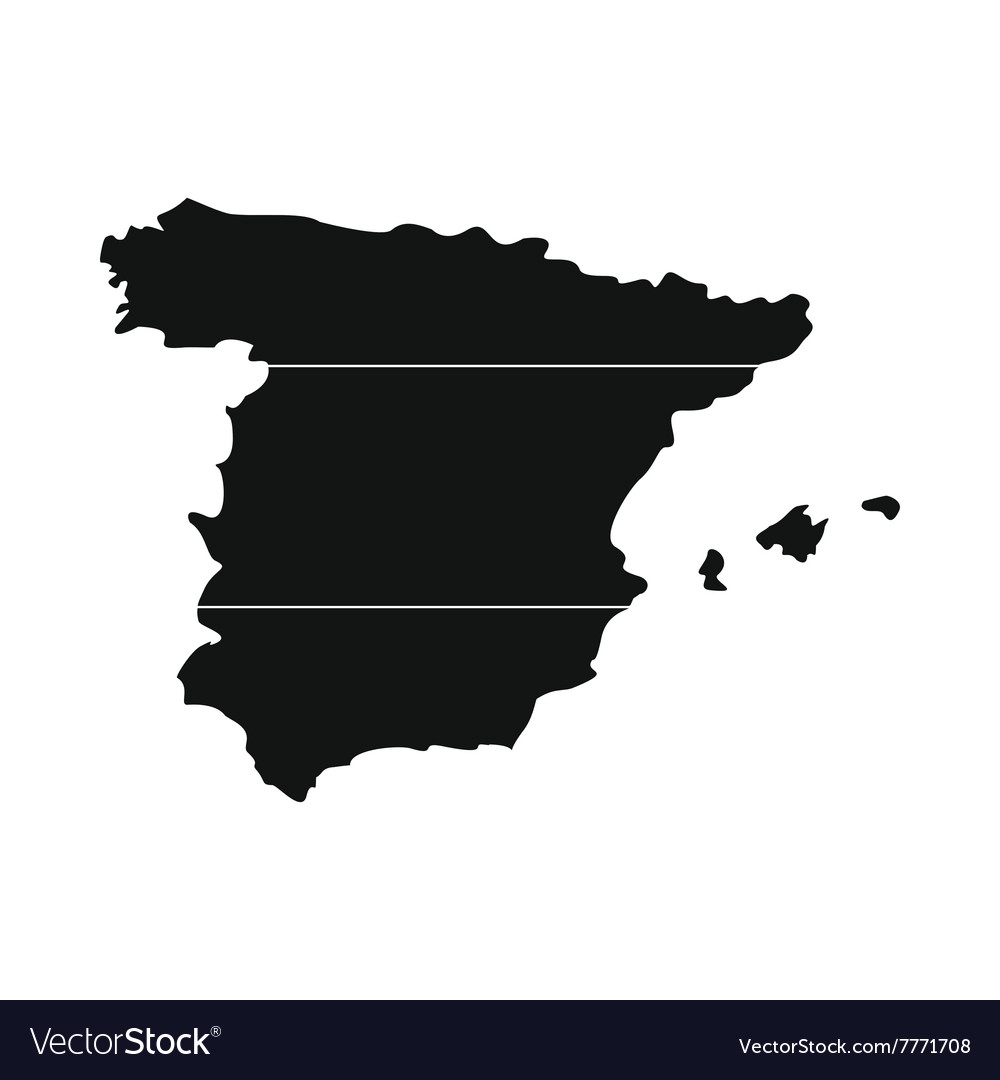 Map spain simple icon