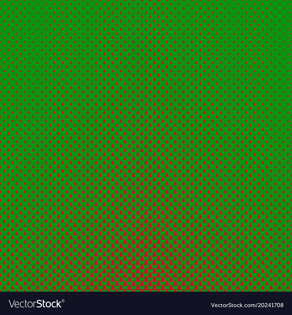 Simple geometric pine tree pattern background vector image