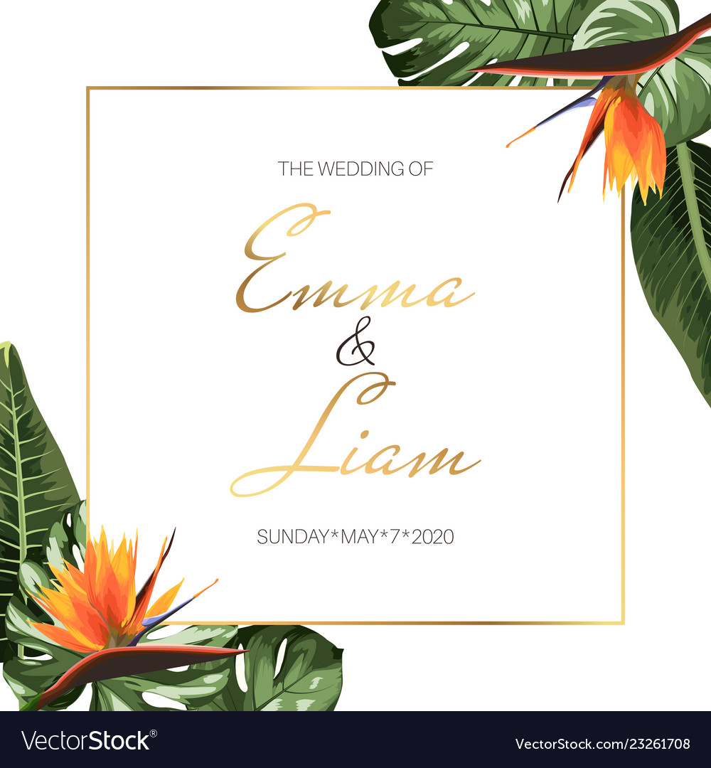 Tropical Exotic Wedding Event Invitation Card