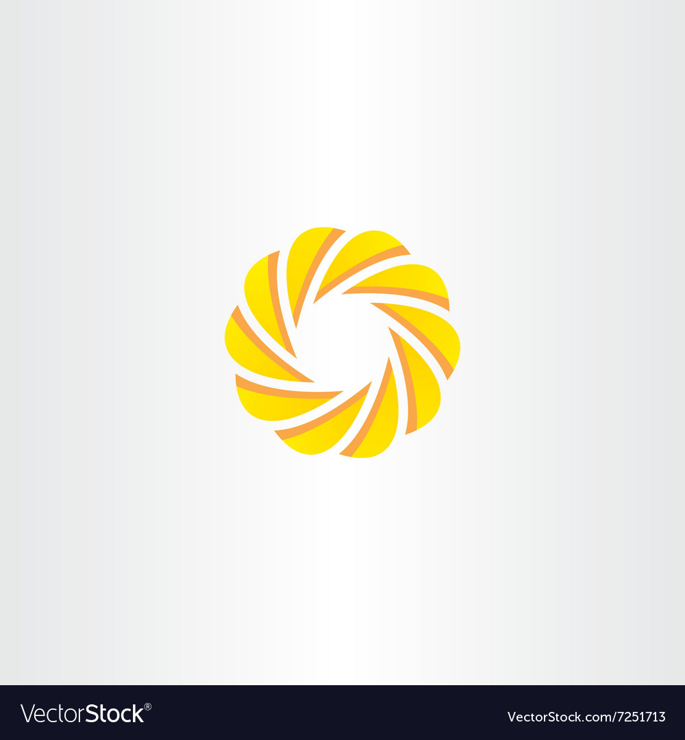 Abstract business circle element logo yellow icon