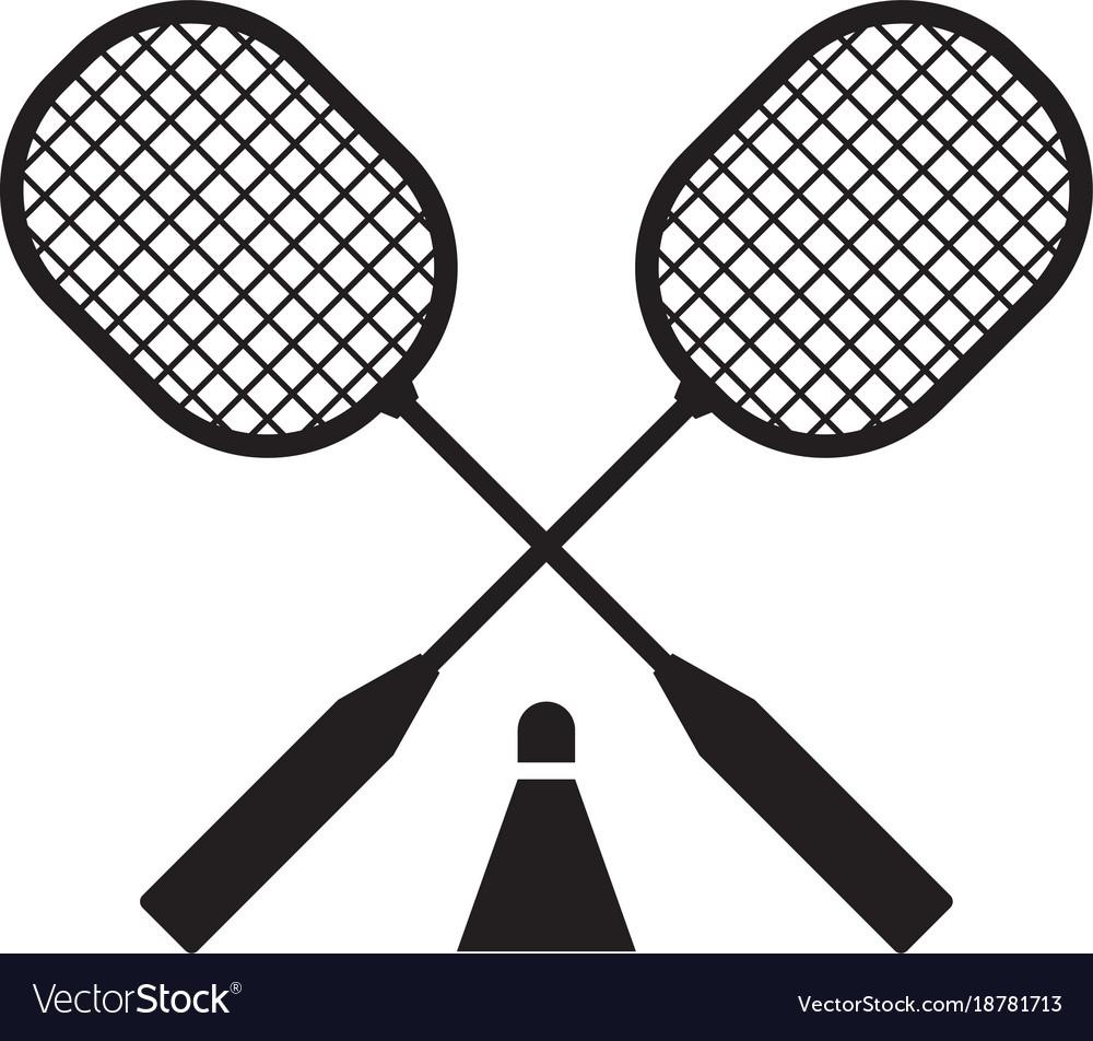 Badminton rackets and volant