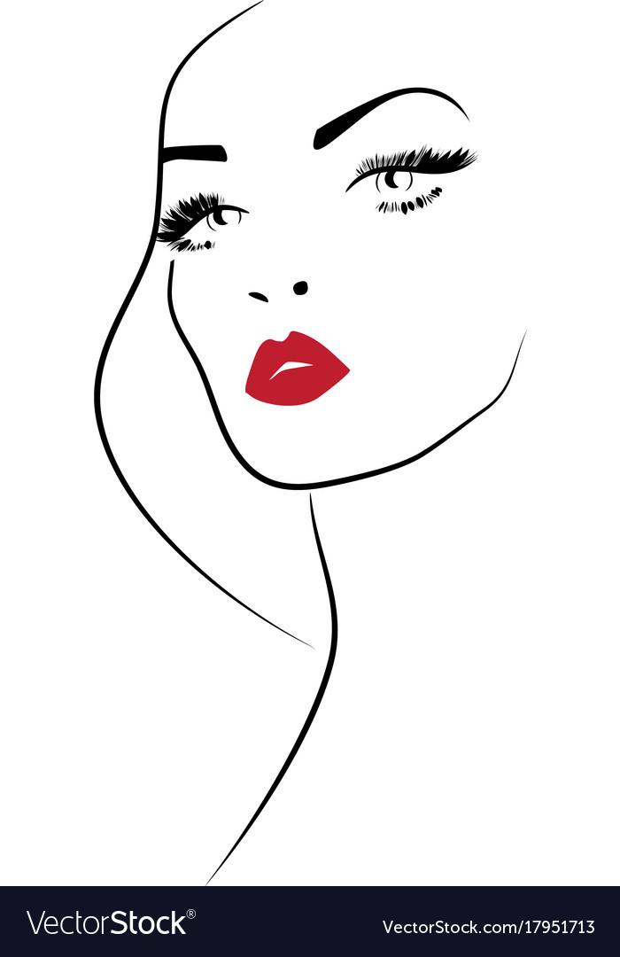 Beauty Makeup Icon Royalty Free Vector Image Vectorstock