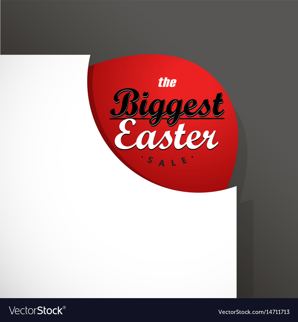 Big easter sale card template