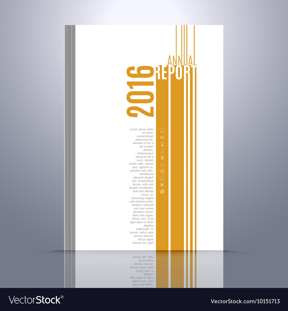 Design Template for Annual Report Book