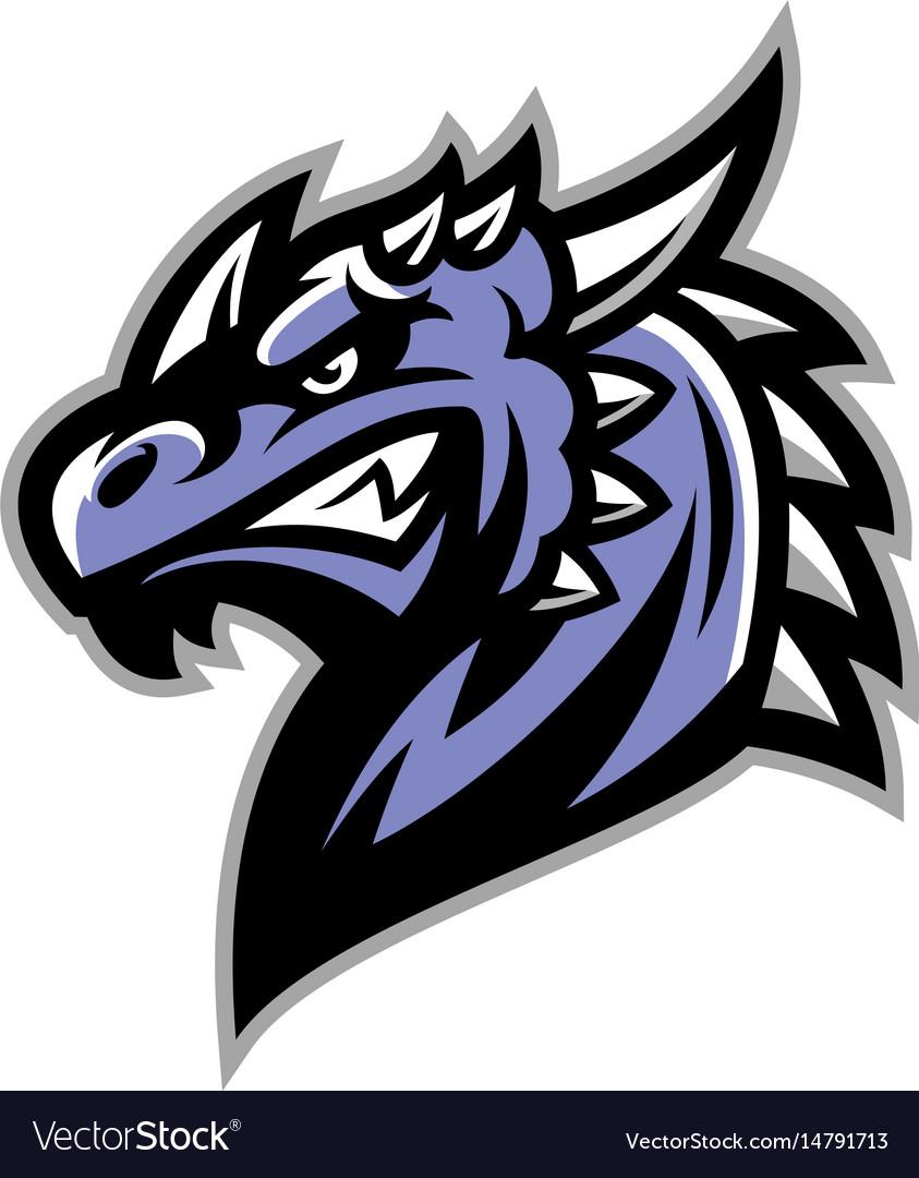 dragon head royalty free vector image vectorstock