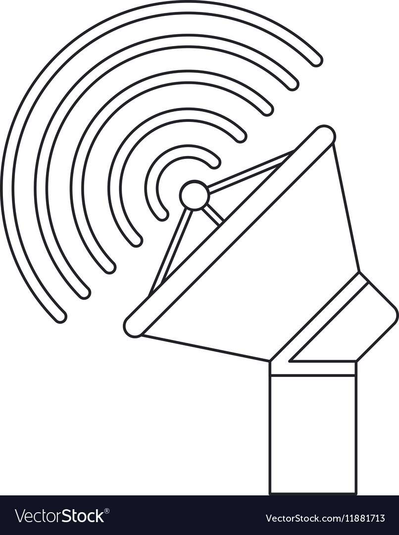 Isolated antenna signal device design vector image
