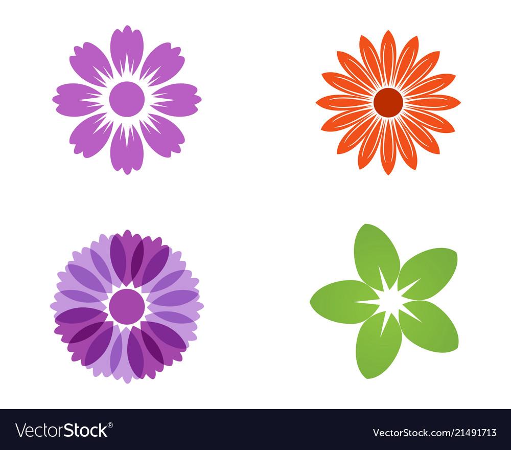 Jasmine flower icon design logo template vector image izmirmasajfo