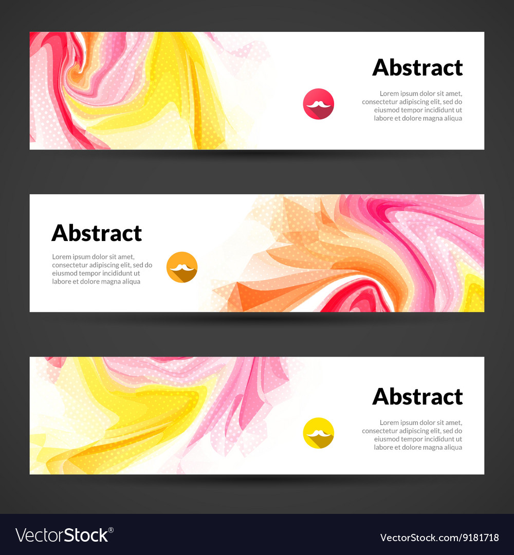 Abstract banners set design template