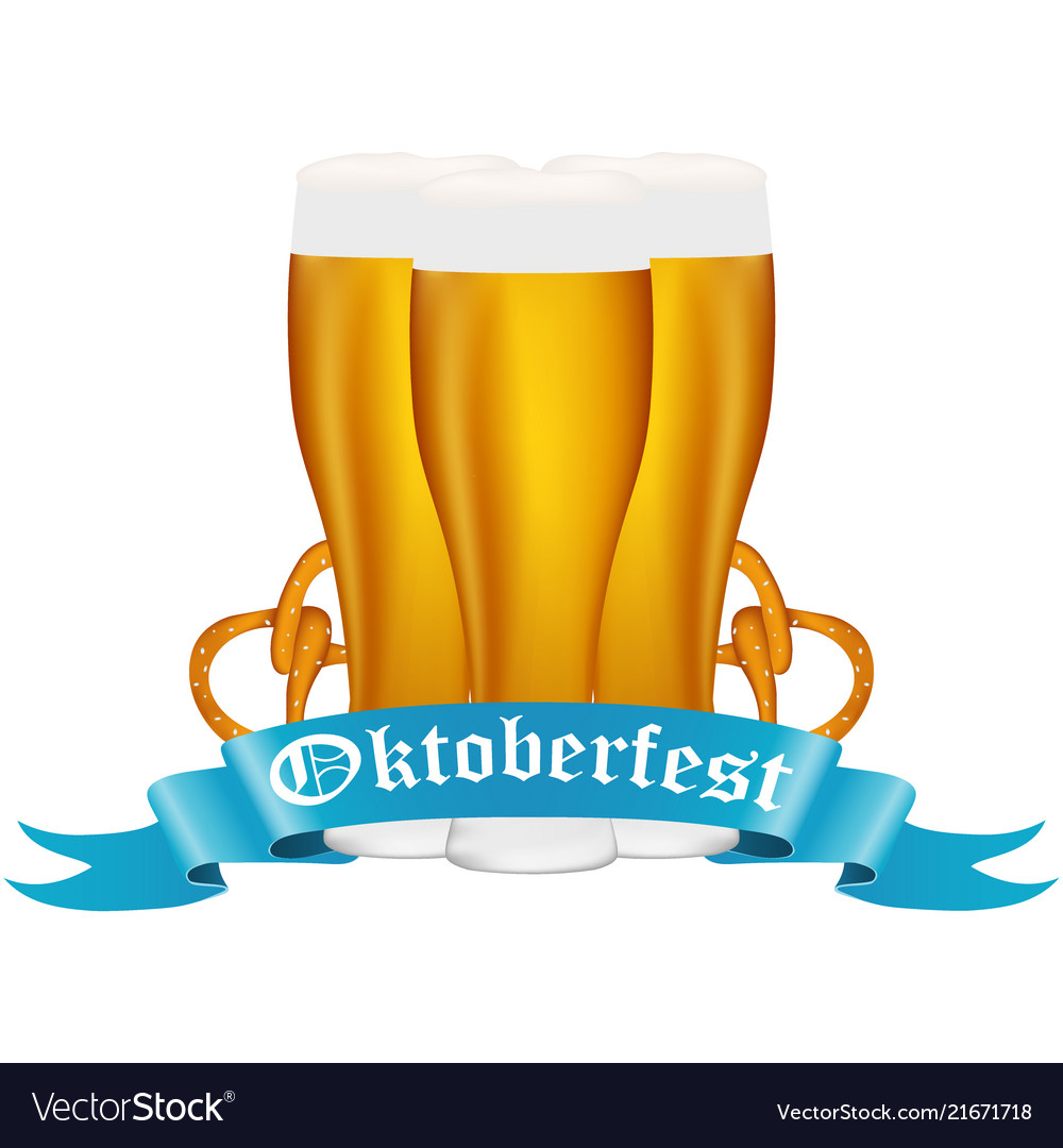 Beer with pretzel at the festival oktoberfest
