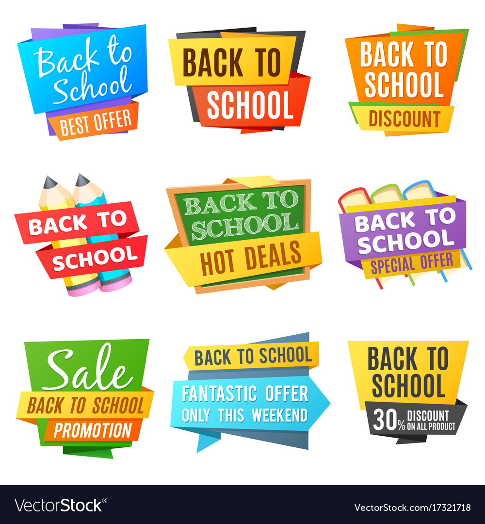 Creative back to school advertising banners