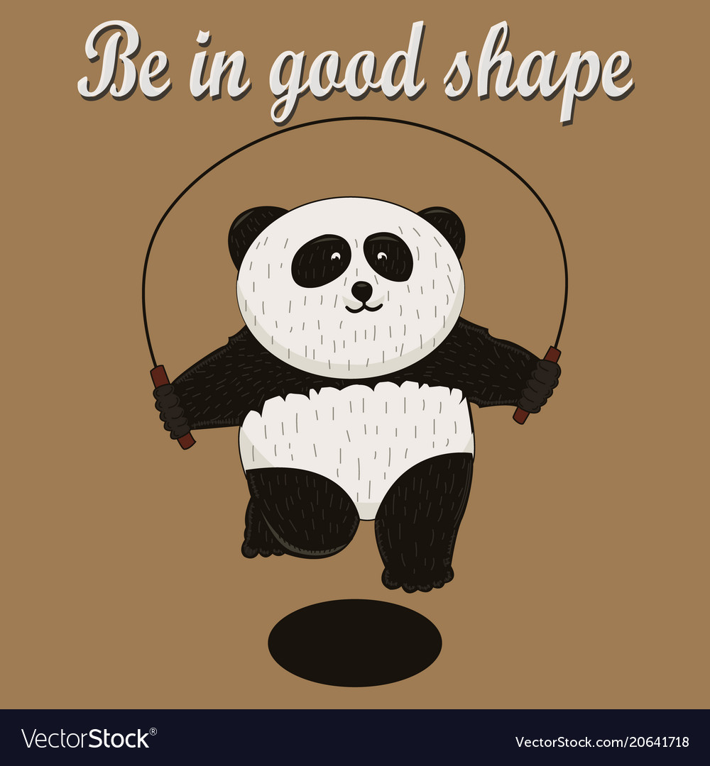 Cute panda face icon