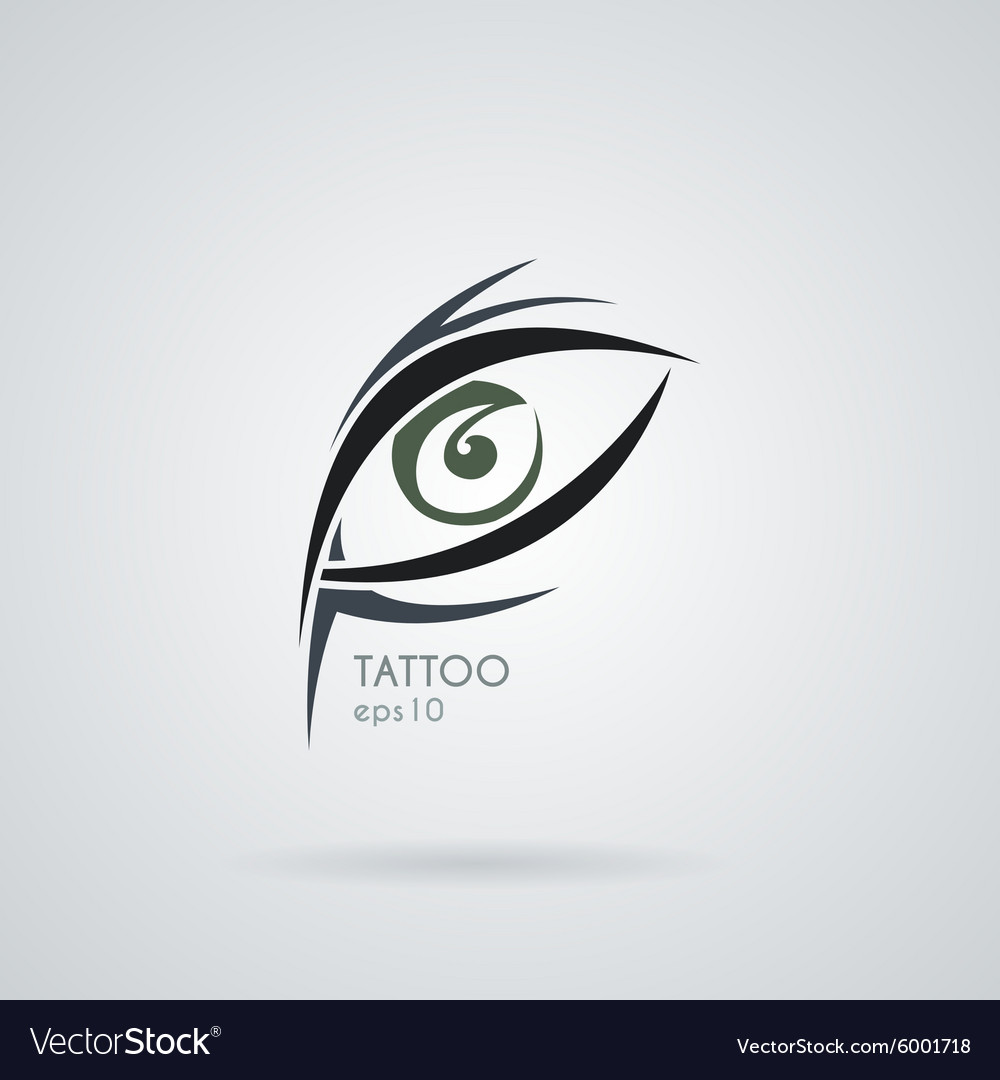 Eye icon in the style of tattoos