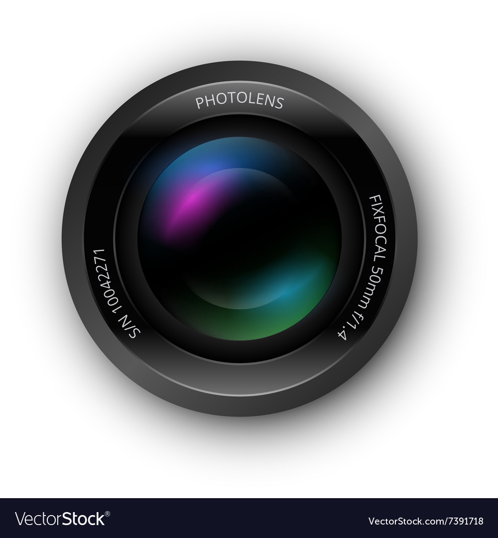 Lens for camer icon